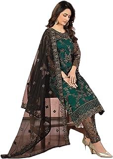 فستان نسائي هندي هندي من بوليوود للحفلات من تصميم Green Designer رداء شبكة مستقيمة رداء رداء رداء رداء مسلم باكستاني 6091