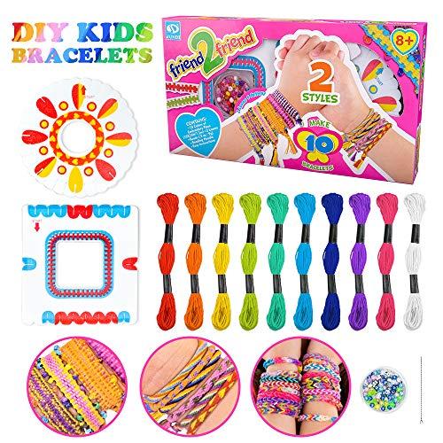 Freundschaft Armband Kit für Mädchen Kinder,Geschenke Alter 7 8 9 Armbandherstellung Kit für Kinder Geburtstagsgeschenk für 7 8 9 Jahre alte Mädchen Kinder Armbänder Perlen Kit für Mädchen Alter 7 8 9