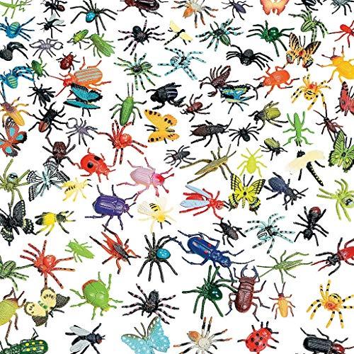 Elfen und Zwerge 30 Krabbelkäfer im Set für die Dschungelparty, Halloween oder Gespensterparty Käfer Spinnen