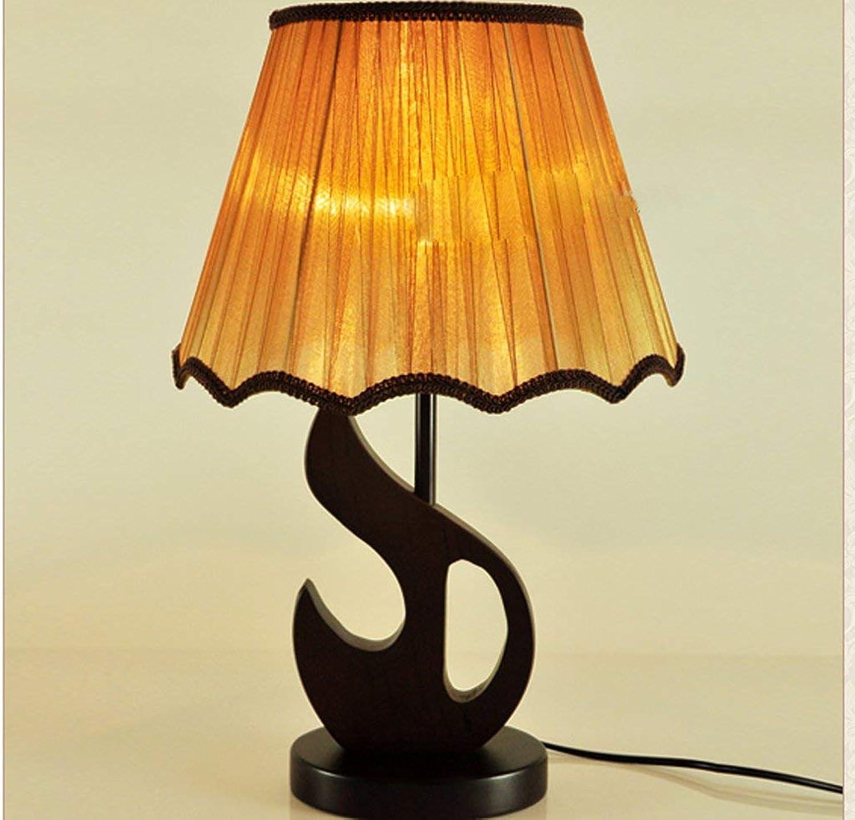 GQQ Einfache Wootable Lichter Tischlampe Schlafzimmer Nachttischlampe Nachttischlampe Nachttischlampe Europäischen Pastoralen Retro Klassische Gelbe Stoff Schatten Lampen E27 B07PLB2MWG     | Überlegene Qualität  09575c