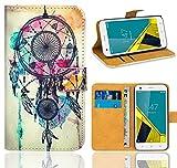 Vodafone Smart Ultra 6 Handy Tasche, FoneExpert® Wallet Hülle Flip Cover Hüllen Etui Ledertasche Lederhülle Premium Schutzhülle für Vodafone Smart Ultra 6 (Pattern 9)