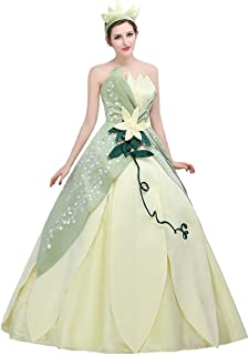 Womens Hand Sewing Leaf Design Layered Costume Dress Party Ball Gown