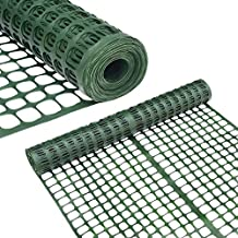 Abba Patio Snow Fence 2' X 25' Feet Plastic Safety Fence Roll Temporary Poultry Fencing Mesh Economy Construction Fencing for Deer, Lawn, Rabbits, Chicken, Poultry, Dogs, Dark Green