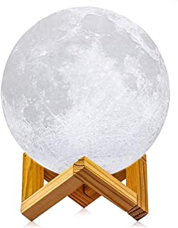 Moon Lamp 3D Led Moon Night Light Lamps USB Rechargeable Touch Control Dimmable Moon Lamp with Stand Creative Moon Light R...