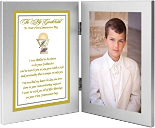 Poetry Gifts First Communion Gift from Godmother to Godchild, Add Photo to Frame