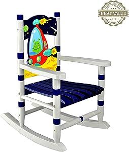 Sedie a dondolo Cameretta per bambini Creative Baby sedia a dondolo in legno per bambini Uso sicuro e sicuro e gioco felice Trattamento di attrezzature per il rilassamento della schiena e del collo