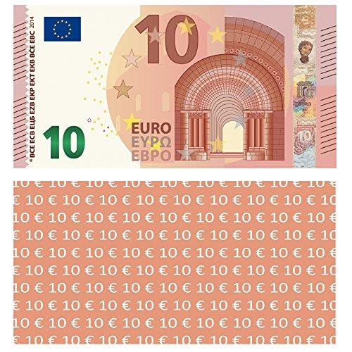 LYSCO  10 EURO Spielgeld, 100 Stück, 94x74mm, verkleinert auf 75{92163637bfaf38cb1edbe80d1000fafb004c282d86022a0132d9d005ddf23d12} der Originalgröße