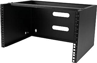 """StarTech.com 6U Wall Mount Network Equipment Rack - 14 Inch Deep - 19"""" Patch Panel Bracket for Shallow Server Equipment- 4..."""