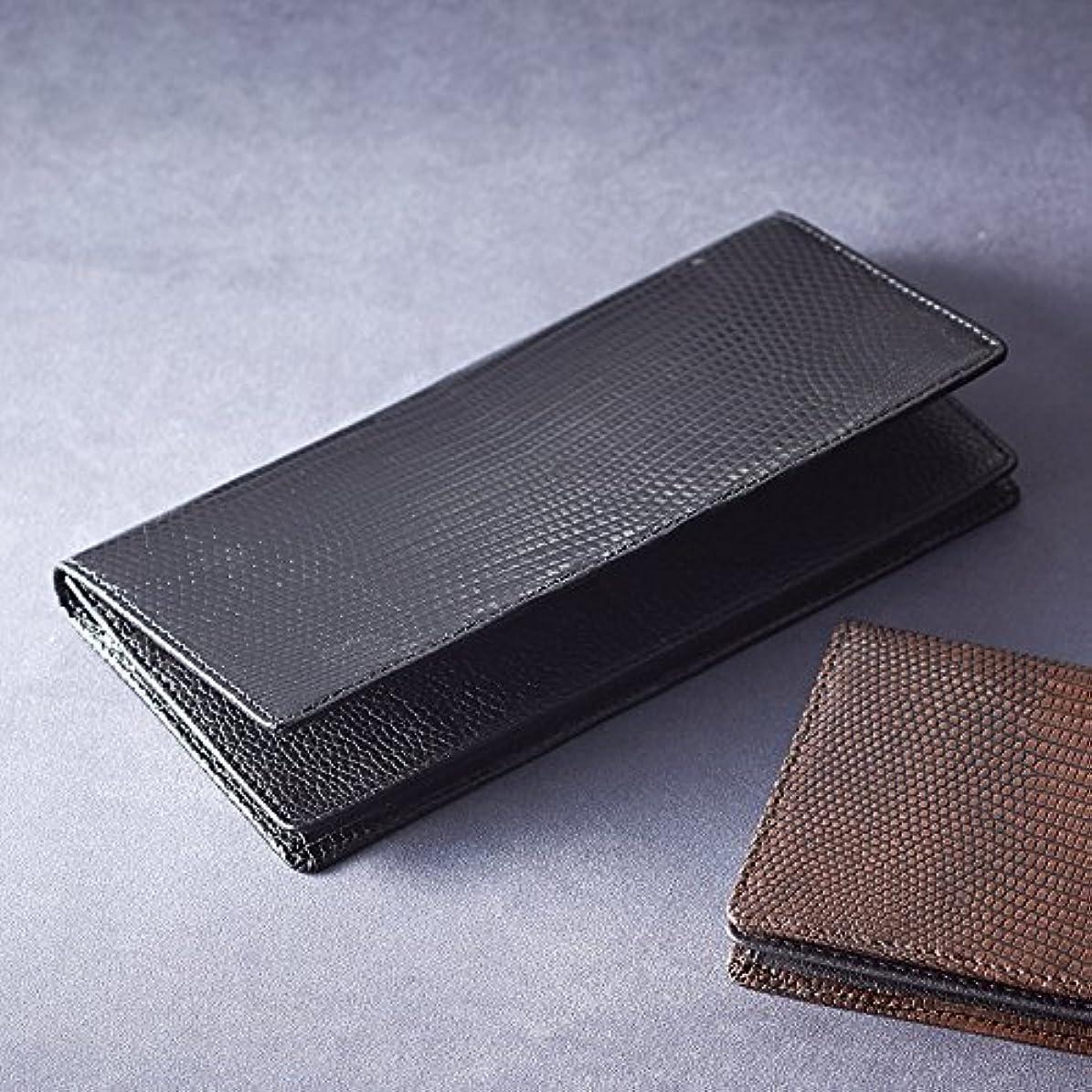 受け入れラベ教えリザード長財布 S-NOM15397BK ブラック