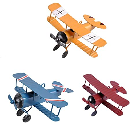 Details about  /2x Vintage Style Airplane Aircraft Model Home Decor Ornament Kids Toys NEW