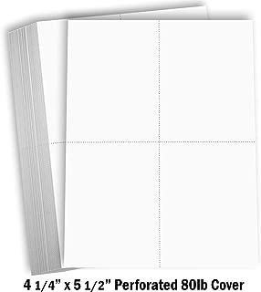 Hamilco White Cardstock Thick Paper - 8 1/2 x 11