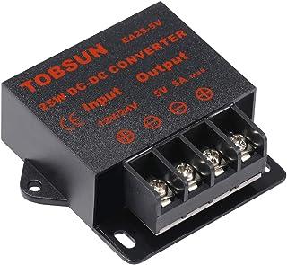 Henzxi DC Voltage Converter 12V/24V to 5V 5A 25W Step Down Regulator Power Supply Volt Transformer Adapter