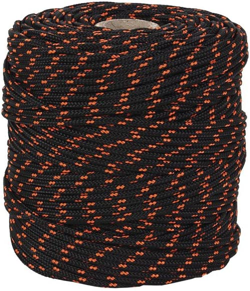 Cofan 08101150A Cuerda, Negro y naranja, 3 mm x 25 m
