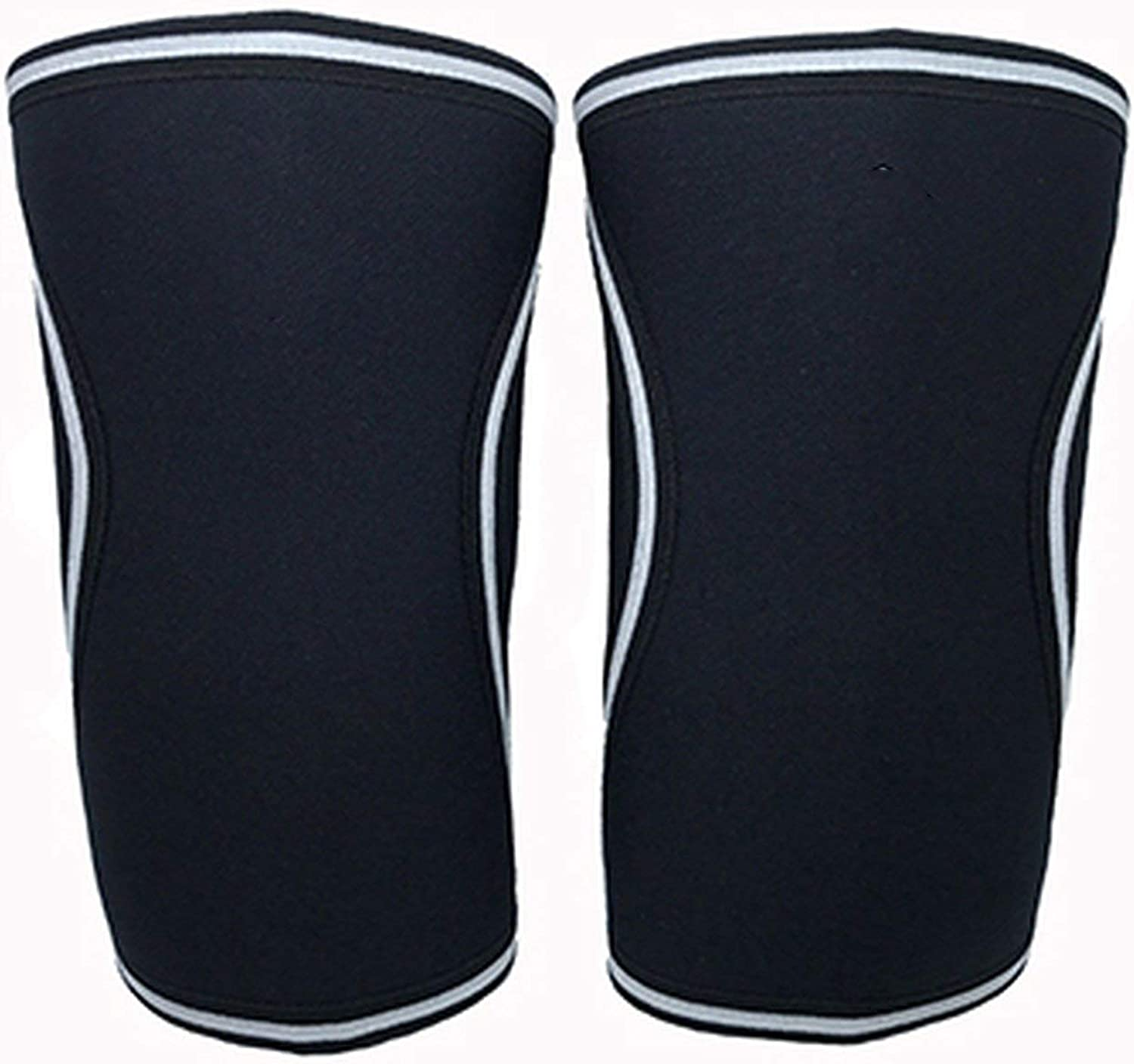Compression Knee Sleeves Brace Support Neoprene 5mm for training, weightlifting, running, basketball, squats By SP WHY,Black,S