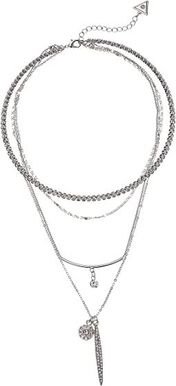 GUESS Coil and Longer Layer Multi Layer Necklace