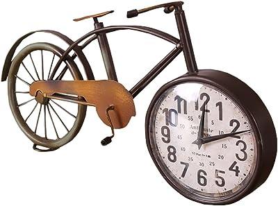 metal bicicleta de estilo europeo retro reloj de escritorio viento ...