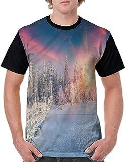 BlountDecor Fashion T-Shirt,Mistletoe and Ornaments Fashion Personality Customization