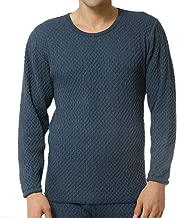 健康肌着 ひだまり チョモランマ 紳士長袖丸首シャツ( 防寒肌着 あったか肌着 紳士肌着 ) (M:胸囲 88~96・ウエスト76~84・身長165~175)