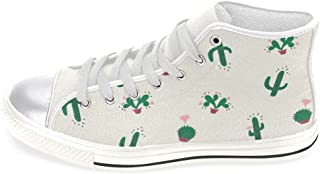 InterestPrint Women's High Top Classic Casual Canvas Fashion Shoes Trainers Lace Up Sneakers