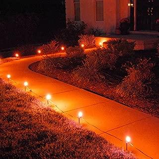 10 Count Electric Pathway Lights Orange