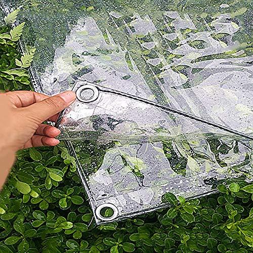 BXF Abdeckplane Transparente wasserdichte PVC-Markise Plane, 0,3 mm weicher Film, Fensterbalkon regendicht, 370 g / ㎡ (Size : 1.4x2m)