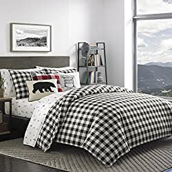 buffalo plaid christmas decor duvet cover