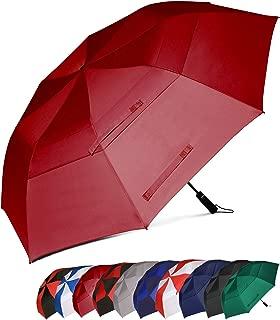 Essentials - Paraguas de Golf Resistente al Viento con Doble Tela y Sistema de Apertura automático, 58/62 Inch