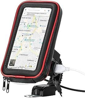 Suporte com tomada Carregador USB de Celular Impermeável para moto scooter motoboy motocicleta Universal Smartphone GPS 6 ...