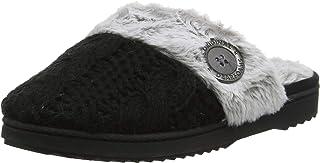 Dearfoams Chunky Knit Scuff W/Plush Cuff, Pantofole Donna