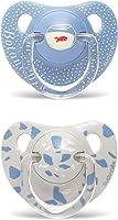 Suavinex, Pack 2 Chupete con tetina anatómica de Silicona para Bebés, Azul Bótanico, +18 Meses