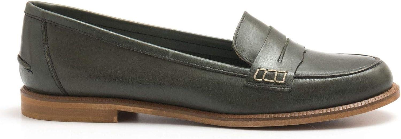 SANGIORGIO - Grün Mocassins in Soft Unlined Leather - 7340CRUST VERDONE
