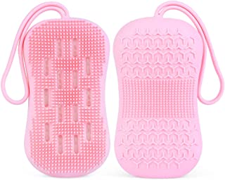 Frdzsw Spazzola da doccia,Spazzola Corpo in silicone,Spazzola Bagno,Migliora la circolazione sanguigna, riduce la cellulit...