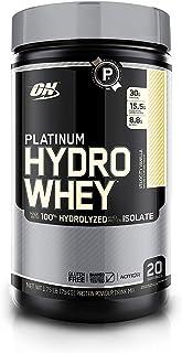 Optimum Nutrition Platinum Hydrowhey Protein Powder, 100% Hydrolyzed Whey Protein Powder, Flavor: Velocity Vanilla, 1.75 P...