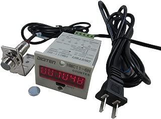 DIGITEN 110V-240V 6-Digit 0-999999 LED Display Digital UP Counter+Hall NPN Proximity sensor switch+holder
