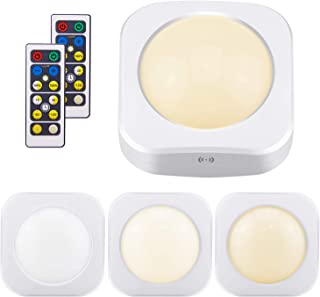 LUXSWAY Puck Lights Battery Operated, Dimmable Closet Lights, Push Lights, Tap Lights, Touch Night Lights, Remote Controll...