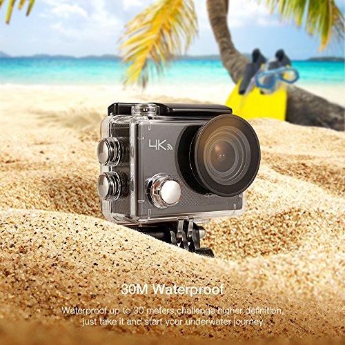 APEMAN Action Camera 4K WiFi 16MP Waterproof Underwater Camera Ultra Full HD Sport Cam 30M Diving with 2