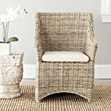Safavieh Home Collection Ventura Brown and White Washed Arm Chair