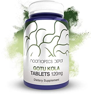 Gotu Kola Extract Tablets | 120mg | 90 Count | Enteric Coated | Centella asiatica | 35-45% Triterpenes | Supports Healthy Stress Levels | Promotes Memory Enhancement