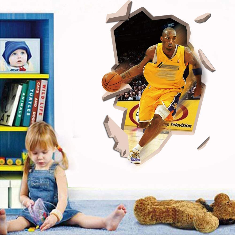 SOUL2113D Basketball Wall Decals Removable Sports Wall Stickers for Boys Room Bedroom Wall Decor (15.7 x 23.6 inches)