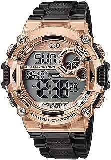 Q&Q Men's Grey Dial Silicone Band Watch - M146J007Y