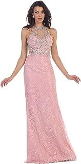 US Fairytailes Sleeveless Rhinestone Full Length Mesh Dress #21438