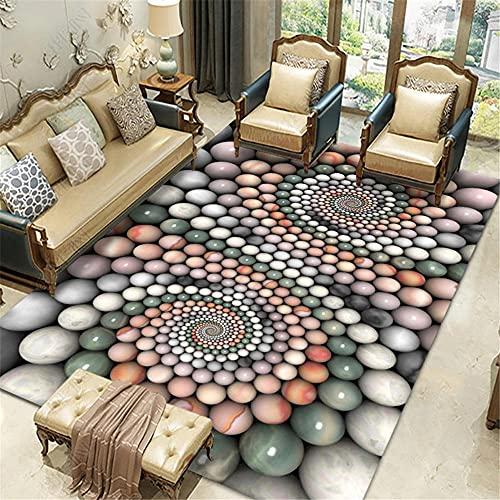 alfombras y moquetas,Alfombra Verde, patrón de guijarros Anti-ácaro Sofá de Suelo de Polvo ,Alfombra recibidor Interior -Verde_140x200cm