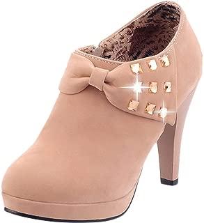 Waltz Choice Women's High Heels Ankle Boots Platform Pumps Autumn Winter Casual Shoes