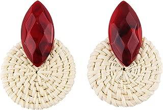 Wooden Earrings Vintage Handmade Resin Dangle Earrings Party Statement xg2256