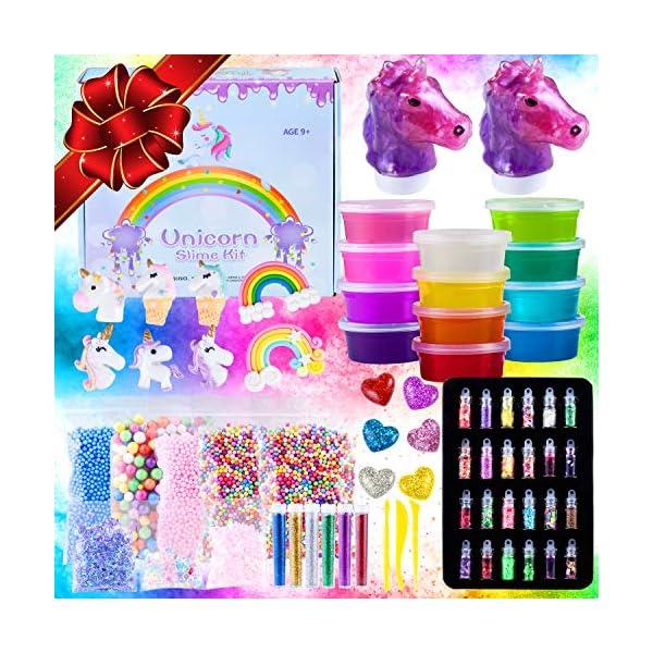 Unicorn Slime Kit for Girls - Slime for Girls, Fluffy Premade Slime with Unicorn Slime Charms, Glitter, DIY Pink, Toys… 3
