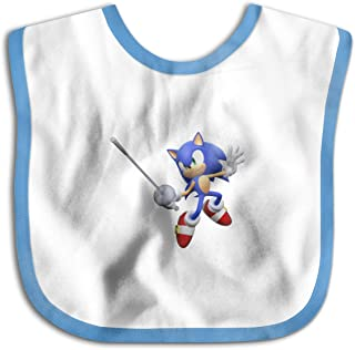 Mario and Sonic at The London 2012 Olympic Games Baby Bandana Drool Bibs Muslin Bibs for Teething and Drooling, Super Soft Organic Cotton, Great Gift for 0-24 Months Baby Blue