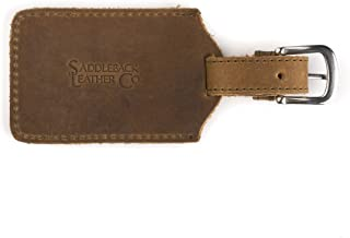 Strong Full Grain Leather Luggage Travel Bag Tag Stainless Steel Hardware Includes 100 Year Warranty