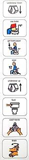 Plastic Visual ASD Toilet Schedule (Picture Communication Symbols)