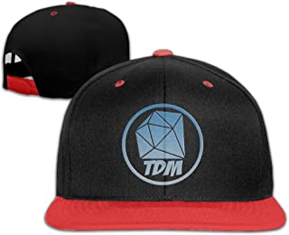 Lixinli The Diamond Minecart DAN TDM Logo Kids Boys Girls Hats Caps Red