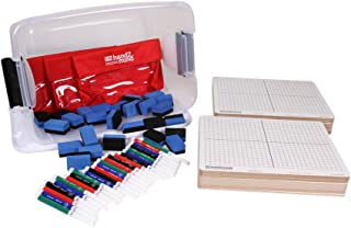 ETA hand2mind 42341 Dry Erase Coordinate Grid Board Kit, Set of 30